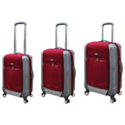 FORD Flex 2 3-pc. Hybrid Spinner Upright Luggage Set