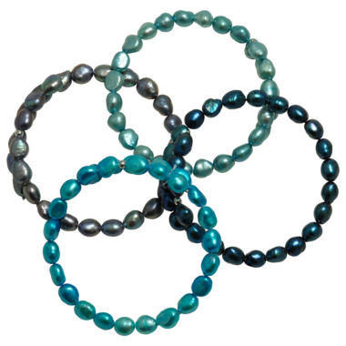 jcpenney.com | Dyed Cultured Freshwater Pearl 4-Pc. Bracelet Set