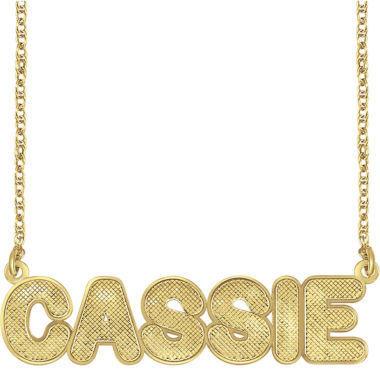 jcpenney.com | Personalized 14K Gold Over Silver Bold Name Necklace