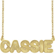 14K Gold Over Silver Bold Nameplate Pendant