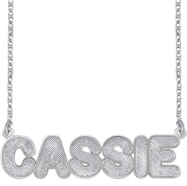 jcpenney.com | Personalized Sterling Silver Bold Name Necklace