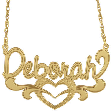 jcpenney.com | Personalized 14K Gold Over Silver Name Heart Pendant Necklace