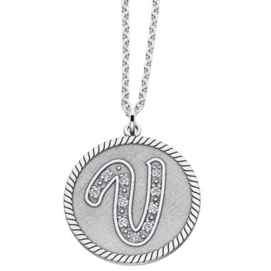jcpenney.com | Personalized Sterling Silver Initial Pendant Necklace