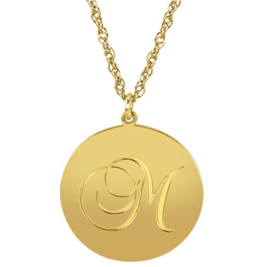 jcpenney.com | Personalized 14K Gold Over Sterling Silver Initial Pendant Necklace