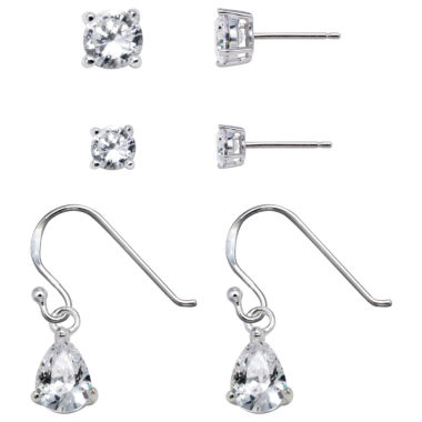 jcpenney.com | Sterling Silver Cubic Zirconia Earring Set