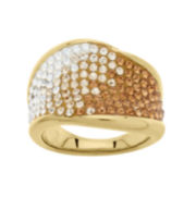 Gold-Plated Sterling Silver Ombre Crystal Ring