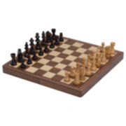 Walnut Magnetic Chess Set
