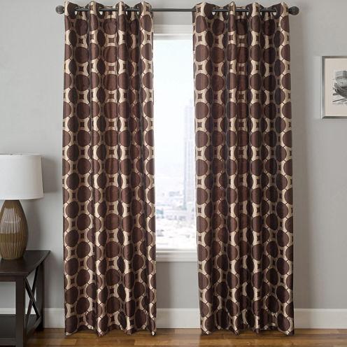 Edison Circle Grommet-Top Curtain Panel