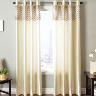 jcpenney.com | Guild Two-Tone Faux-Silk Grommet-Top Two-Tone Curtain Panel