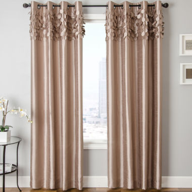 jcpenney.com | Lazio Faux-Silk Grommet-Top Curtain Panel