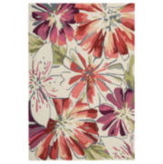 Nourison® Floral Springs Hook Rectangular Rugs