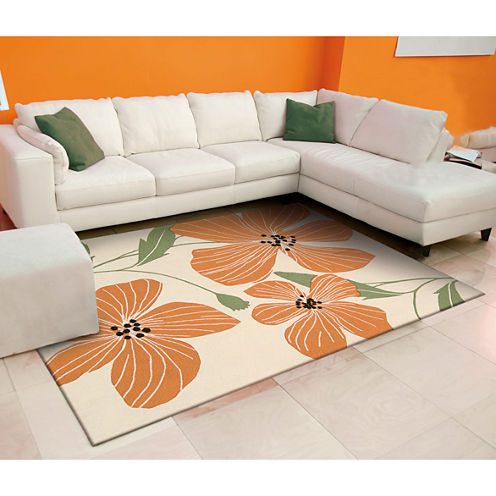 Nourison® Hawaiian Tropic Hooked Rectangular Rug