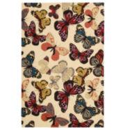 Nourison® Butterflies Hand-Hooked Rectangular Rugs