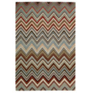 Nourison® Chevron High-Low Carved Rectangular Rugs