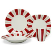 Red Vanilla Tuxedo 16-pc. Dinnerware Set