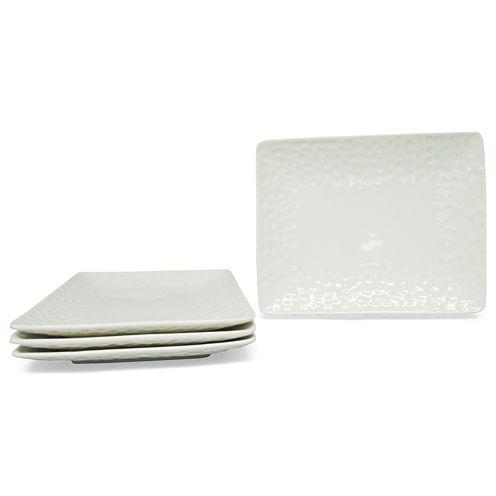Vanilla Marble Set of 4 Dinner Plates