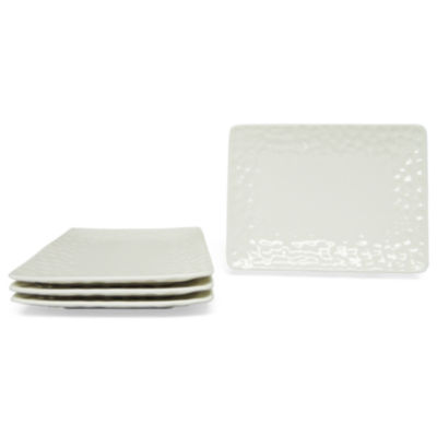 Vanilla Marble Set of 4 Salad Plates