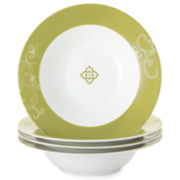 Rachael Ray® Curly-Q Set of 4 Pasta Bowls