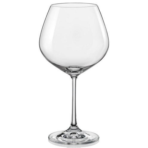 Red Vanilla Viola Set of 6 Burgundy Wine Glasses