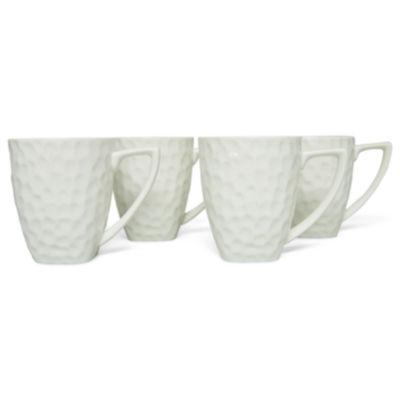 Vanilla Marble Set of 4 Square Mugs