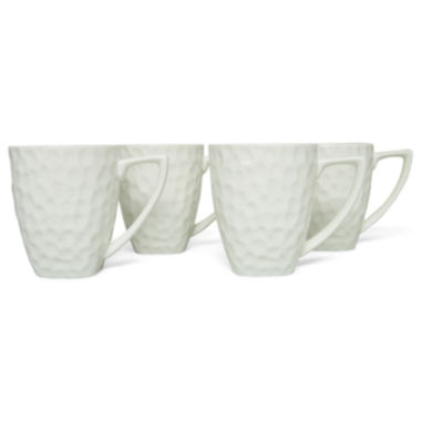 jcpenney.com | Vanilla Marble Set of 4 Square Mugs