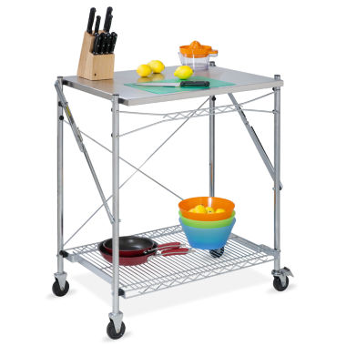 jcpenney.com | Honey-Can-Do® Stainless Steel Folding Urban Work Table