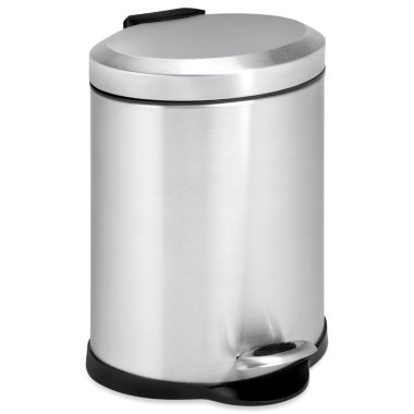 jcpenney.com | Honey-Can-Do® 5-Liter Oval Stainless Steel Step Trash Can