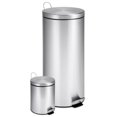 jcpenney.com | Honey-Can-Do® 30- and 3-Liter Stainless Steel Step Trash Can Combo