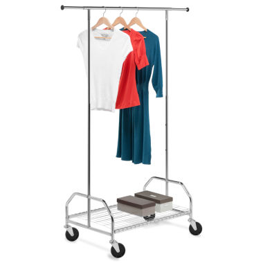 jcpenney.com | Honey-Can-Do® Heavy-Duty Bottom Shelf Garment Rack