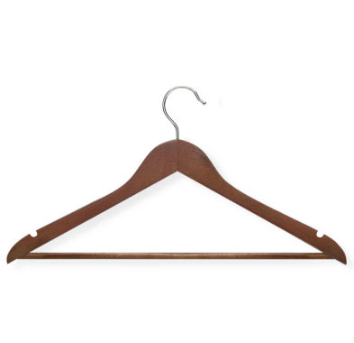 jcpenney.com | Honey-Can-Do® 8-Pack Cherry Wood Suit Hangers Nonslip Bar