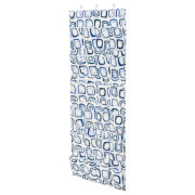 Honey-Can-Do® 24-Pocket Over-the-Door Shoe Organizer - White/Blue Canvas