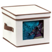 Honey-Can-Do® Natural Canvas Small Window Storage Box