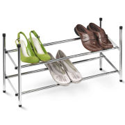 Honey-Can-Do® 2-Tier Expandable Chrome Shoe Rack