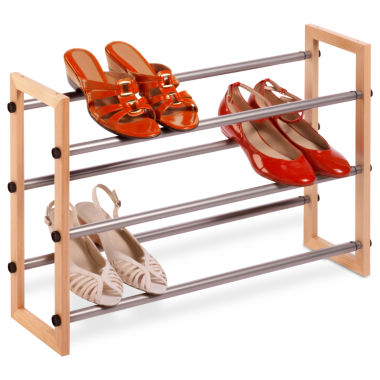 jcpenney.com | Honey-Can-Do® 3-Tier Expandable Wood and Metal Shoe Rack