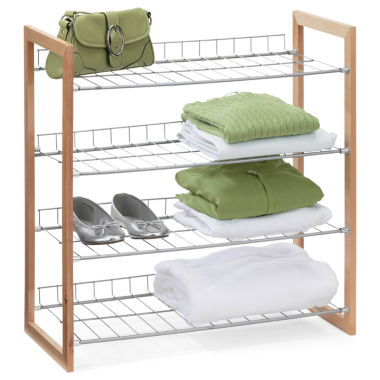 jcpenney.com | Honey-Can-Do® 4-Tier Wood and Metal Storage Shelf