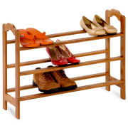 Honey-Can-Do® 3-Tier Bamboo Shoe Rack