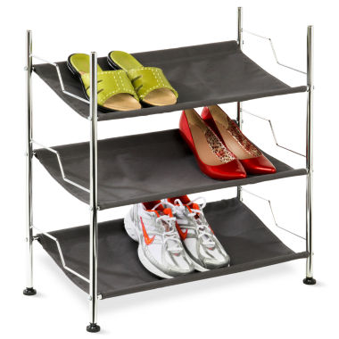 jcpenney.com | Honey-Can-Do® 3-Tier Canvas Shoe Rack
