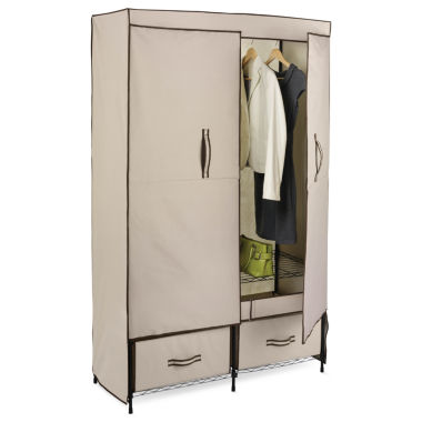 jcpenney.com | Honey-Can-Do® Double-Door Clothing Storage Closet w/ Drawers