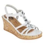 Total Girl® Macy Girls Wedge Sandals