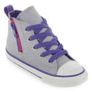 Converse Chuck Taylor All Star Girls Side Zip High-Top Sneakers - Toddler