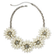 Mixit™ Silver-Tone Simulated Pearl Flower Statement Necklace