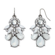 Mixit™ Crystal & White Flower Cluster Earrings