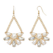 Mixit™ Simulated Pearl Chandelier Earrings