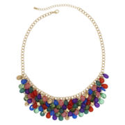 Mixit™ Gold-Tone Multicolor Faceted 5-Row Bib Necklace