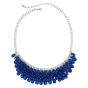 Mixit™ Silver-Tone Blue Faceted 5-Row Bib Necklace