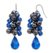 Mixit™ Gray & Blue Cluster Drop Earrings