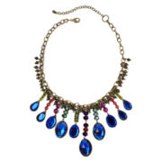 Aris by Treska Blue Stone Statement Bib Necklace