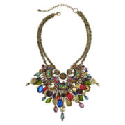 Aris by Treska Shaky Bead Statement Bib Necklace