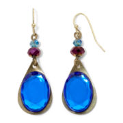 Aris by Treska Blue Stone Drop Earrings