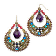 Aris by Treska Embellished Half-moon Earrings